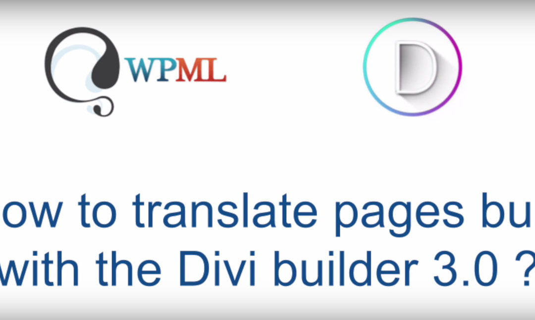 Going Multilingual with Divi