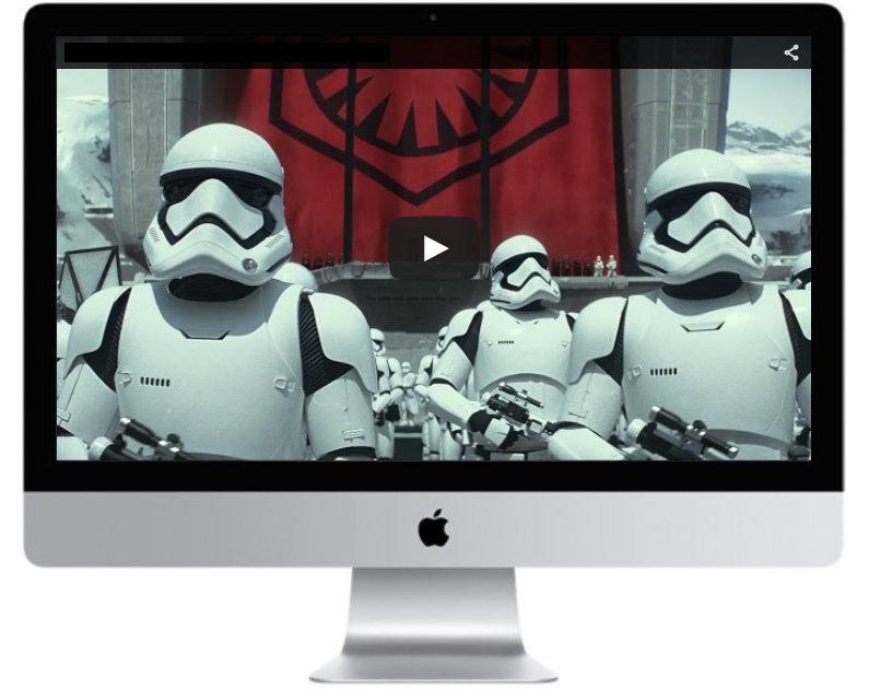 Videos in a monitor frame in Divi